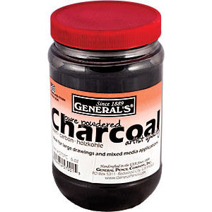 General Pencil 6 oz. (177 ml) Powdered Charcoal - Art Nebula