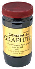 General Pencil 6 oz. (177 ml) Powdered Graphite Jar - Art Nebula