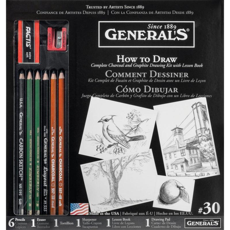 General Pencil Learn to Draw Complete Drawing Kit Sketching & Drawing Pencils Art Nebula
