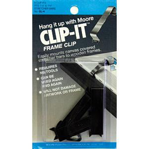 Moore Push Pin Clip-It Frame Clip 4 Carded (card) Framing Tools Art Nebula