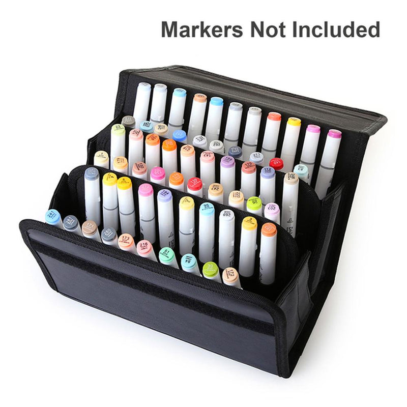 Pen Leather Holder - 60 Slots Art Bags & Storage Art Nebula