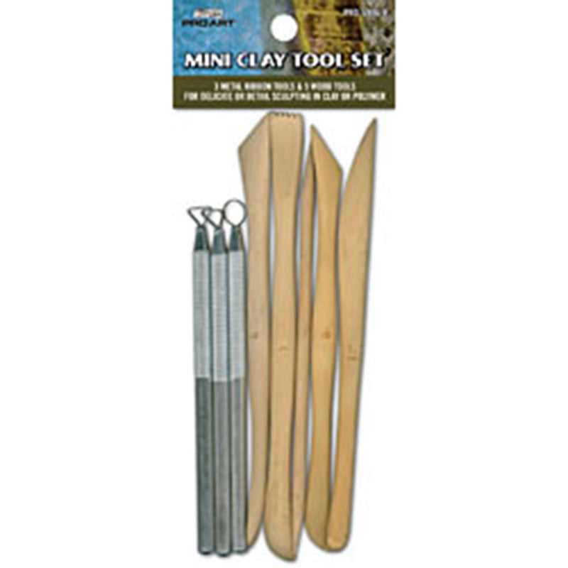 Pro Art Mini Clay Tools 8 Piece Set Sculpting Art Nebula