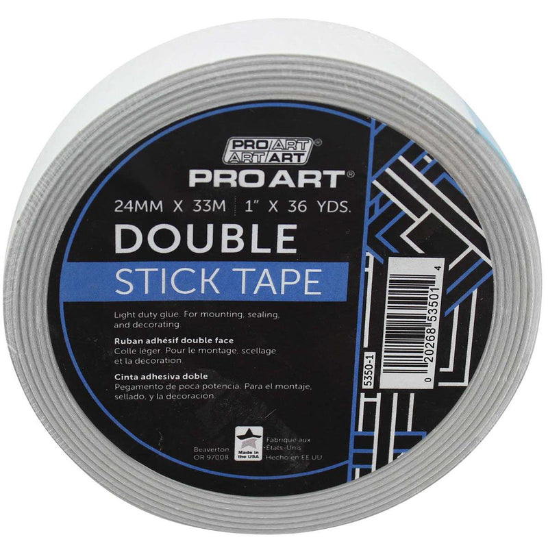 Pro Art Tape Double Stick Adhesive 1x36yd Framing Tools Art Nebula