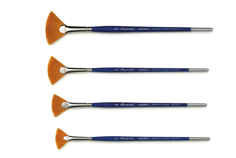 Raphael Series 8274 Kaerell Blue Fan Brush Multi-media Brush Art Nebula