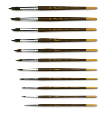 Raphael Series 835 - Petit Gris - Round Brush Watercolor Brush Art Nebula