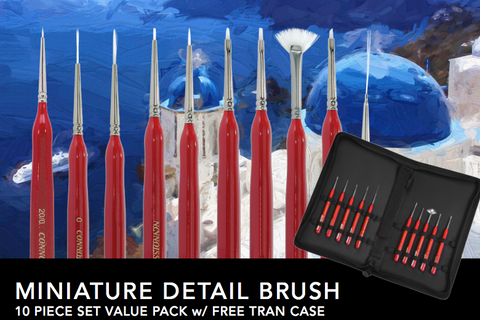 Connoisseur Miniature Detail Brush 10-piece Set - Art Nebula