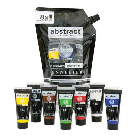 Sennelier Abstract Acrylic - 8-Color Set 21ml Acrylic Paint Art Nebula