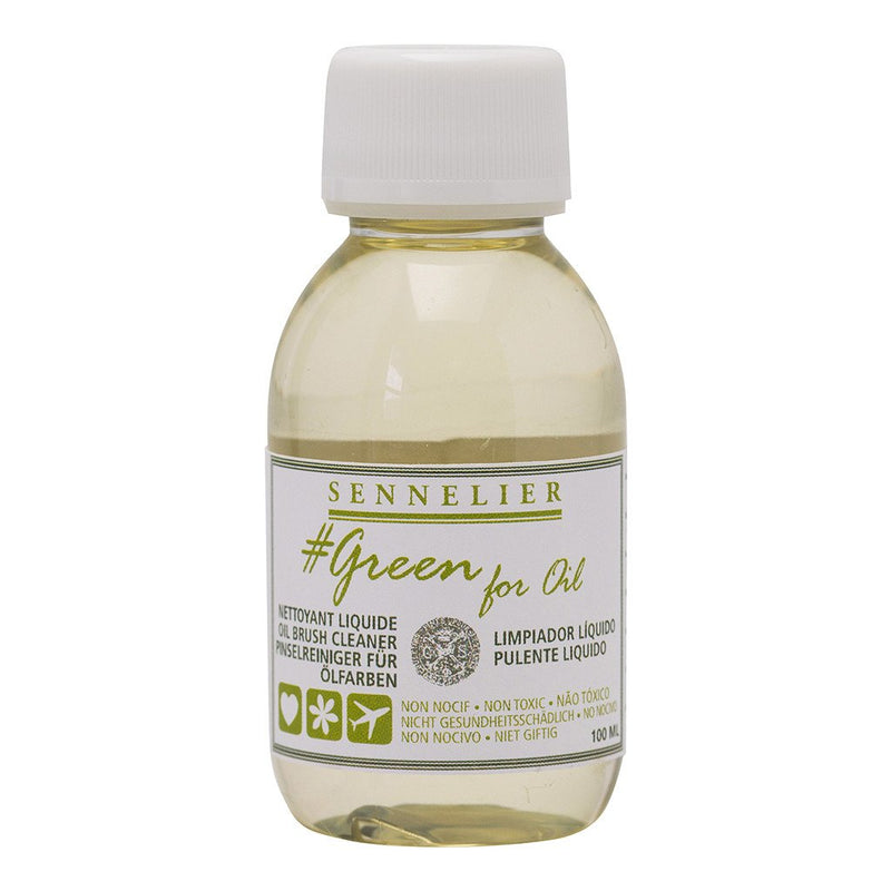 Sennelier Green for Oil - Oil Brush Cleaner 100ml Brush Care Art Nebula