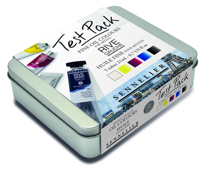 Sennelier Rive Gauche Fine Oil Colour Test Pack - 5 color 21 ml tubes Oil Paint Art Nebula