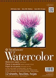 Strathmore Artist Papers 400 series 140 lb. Watercolor Paper 12 Sheet Spiral Bound Pad Sketchbooks & Journals Art Nebula