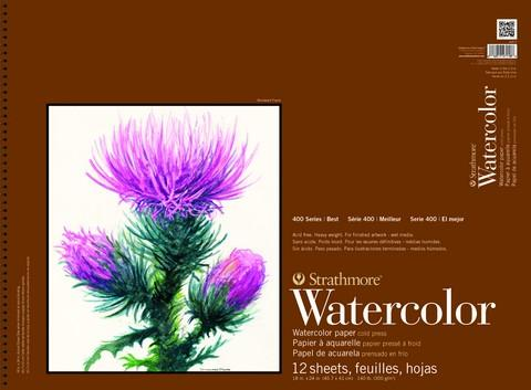 "Strathmore Artist Papers 400 series 140 lb. Watercolor Paper Spiral Bound Pad 15"" x 22"" Sketchbooks & Journals Art Nebula"