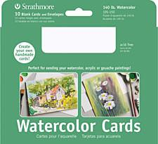 "Strathmore Artist Papers 5"" x 6.875"" Full Watercolor Cards & Envelopes 10 Pack Card Stock & Postcards Art Nebula"