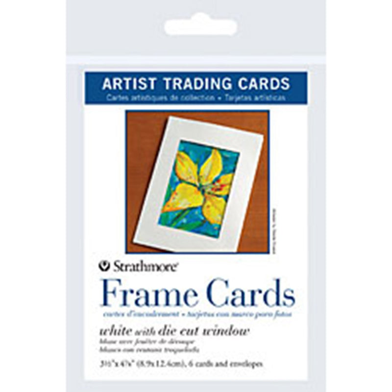Strathmore Artist Papers Frame Cards With Envelopes Artist Trading Cards 6 Pack Watercolor Sheets & Rolls Art Nebula