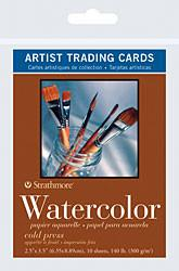 Strathmore Artist Papers Watercolor Artist Trading Cards 10 Pack Watercolor Sheets & Rolls Art Nebula