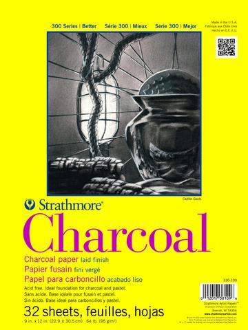 "Strathmore Charcoal Paper White Spiral Top 64lb 11""x17"" Charcoal & Pastel Pads & Sheets Art Nebula"