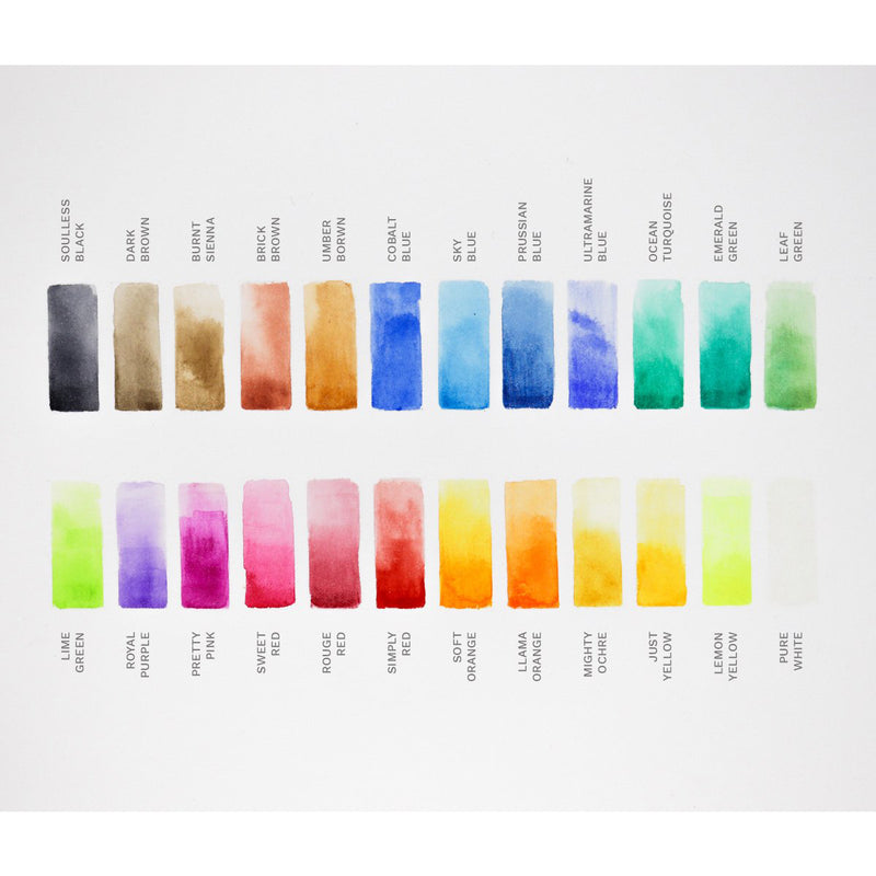 Etchr Lab Watercolour 24 Half Pan Set