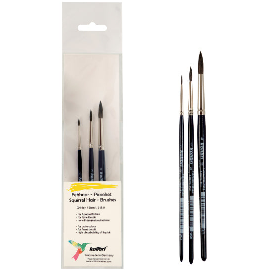 Kolibri Series 22 Squirrel Mixture Watercolor Brush Set