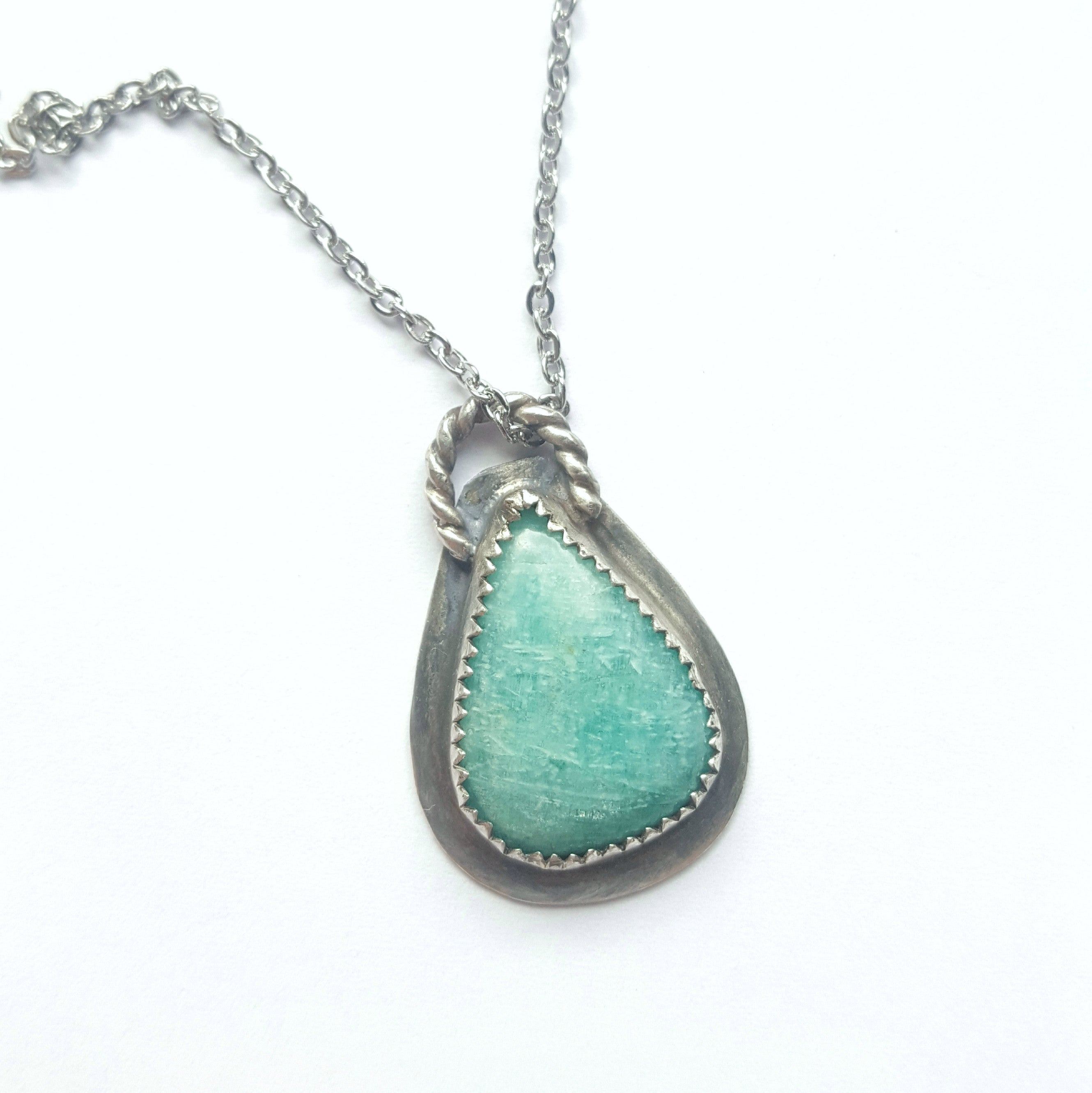 necklace silver sterling in cleo amazonite tjazelle
