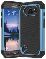 Samsung Galaxy S6 Active Hybrid Dual Layer  Black & Blue Shock Case - BastexShop