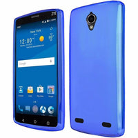 ZTE ZMAX 2 Frosted Matte TPU Flexible Thin Gel Cover Case - Blue - BastexShop
