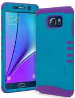 Samsung Galaxy Note 5 Hybrid Purple Silicone Cover  Sky Blue Stand Case - BastexShop