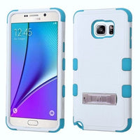 Samsung Galaxy Note 5 Ivory WhiteTropical Teal TUFF Hybrid Stand Case - BastexShop