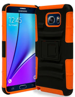 Samsung Galaxy Note 5 Hybrid Orange Cover  Black Holster Kickstand Case - BastexShop