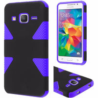 Samsung Galaxy Grand Prime Dynamic Slim  Hybrid Case - Black+Purple - BastexShop