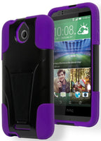 HTC Desire 510, Hybrid   Purple Cover with  Black Stand Case - BastexShop