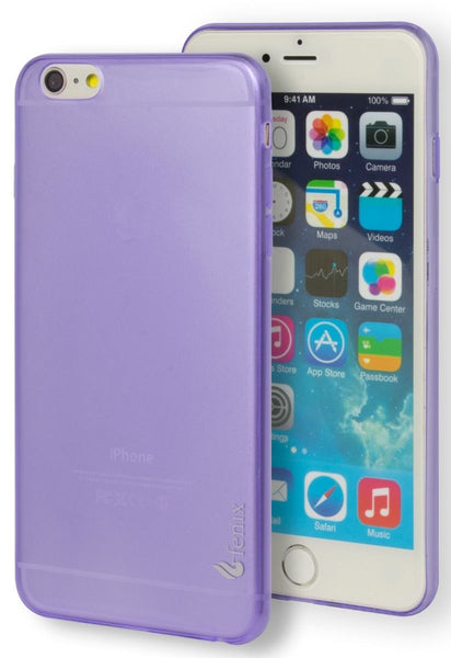 "iPhone 6 Plus, 5.5"" Tough Armor Purple Clear  Rubber Gel Case Cover - BastexShop"