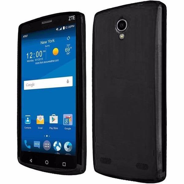ZTE ZMAX 2 Frosted Matte TPU Flexible Thin Gel Cover Case - Black - BastexShop