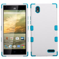 ZTE Warp Elite N9518 Ivory WhiteTropical Teal TUFF Hybrid Phone Case Cover - BastexShop