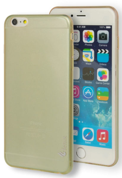 iPhone 6 Plus, 5.5 Tough Armor Gold Clear  Rubber Gel Case Cover - BastexShop