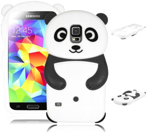 Black Panda  Animal Silicone Case Cover  Samsung Galaxy S5 i9600 - BastexShop