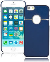 "Durable  Snap On Case Cover -Blue Design with Silver Trim  iPhone 6, 4.7"" - BastexShop"