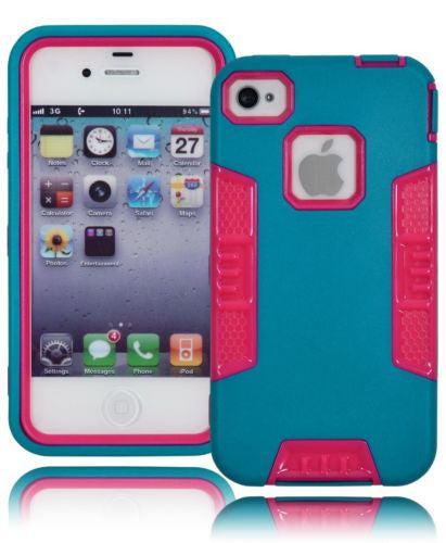 Hybrid Teal and Hot Pink Robotic Design Case Cover  iPhone 5s - BastexShop