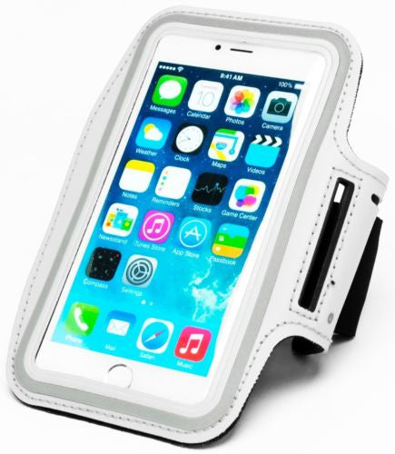 "Runners White Armband with Key Holder Case  iPhone 6 Plus, 5.5"" - BastexShop"