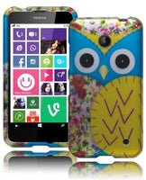 Nokia Lumia 635 Durable Snap On Case Blue Owl with Gold Wing Design Cover - BastexShop