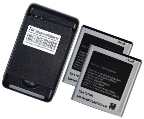 External Battery Charger + 2x Battery  Samsung Galaxy S2 II i9100 - BastexShop