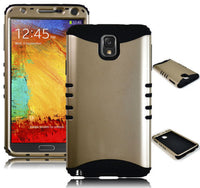 Samsung Galaxy Note 3 III Hybrid Gold  Case + Black Silicone Cover - BastexShop