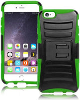 "Hybrid Black Kickstand Holster + Green Silicone  iPhone 6, 4.7"" - BastexShop"