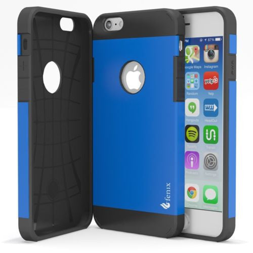 "iPhone 6 Plus, 5.5"", Hybrid Blue with Black Silicone Protective Case Cover - BastexShop"