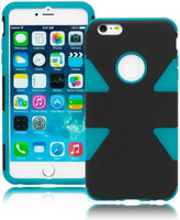 "Hybrid Sky Blue Silicone Surrounded by Black Shell Case  iPhone 6 Plus, 5.5"" - BastexShop"