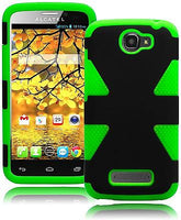 Alcatel One Touch 7040T Hybrid Neon Green and Black  Durable Case Cover - BastexShop