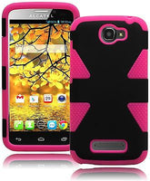 Alcatel One Touch 7040T Hybrid Hot Pink and Black  Durable Case Cover - BastexShop