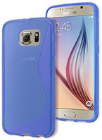 Galaxy S6 Case,   Blue Rubber Gel Silicone Protective Case Cover fo - BastexShop