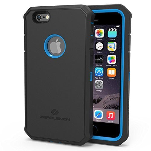 Zerolemon® Apple iPhone 6, 4.7 inch Protector Series  Blue  Black Hybr - BastexShop