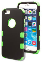 iPhone 6 5.5 Plus Hybrid Protective Durable  Green Cover Black  Case - BastexShop