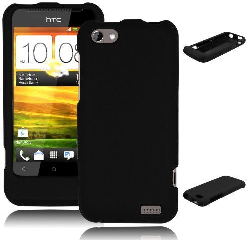 Snap-on Black Case  HTC One V [Wireless Phone Accessory] - BastexShop