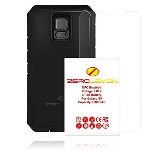 Samsung Galaxy S5 Zerolemon 8500 Mah Extended Battery + Case